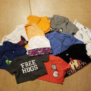 Lot of 9 one pieces 3-9 months & Nike Hat
